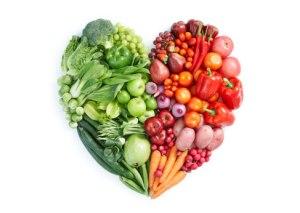 corazón fruta y verdura